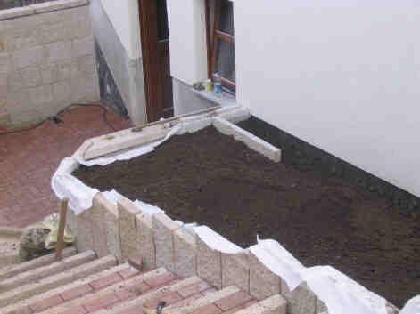 Stützmauer schalsteine